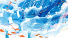 "Although it isn't realistically possible, wouldn't it be exciting to see fish swimming up in the sky as easily as they do when submerged in water? Imagining such an amusing sight stirs up thoughts of ""I want to be surrounded by calming scenery and fish swimming around me!""This time, we have presented a feature on such awe-inspiring illustrations today. One of the best part of illustrations is that the art doesn't always have to borrow from the laws of physics, but can bring things found in a…"