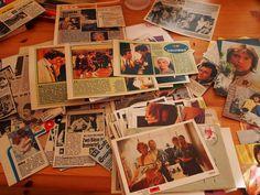 Berlin, Canada und überhaupt...: ABBA-Autogramm von 1974 (ich mag ...in alten Dingen stöbern.... 7/111)  Ausschnitte/clippings