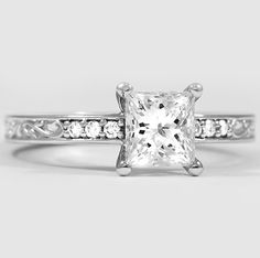 The Delicate Antique Scroll Diamond Ring