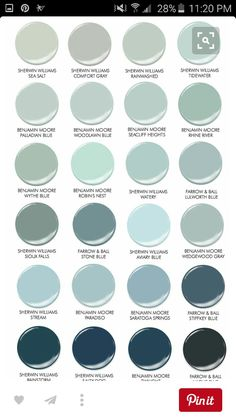 Blue paint colors by Benjamin Moore, Sherwin Williams, Farrow and Blue. Best blue paint color for cabinets. Best blue cabinet paint colors by Benjamin Moore, Sherwin Williams and Farrow and Ball Home Stories A to Z Kitchen Paint Colors, Paint Colors For Home, Light Blue Paint Colors, Coastal Paint Colors, Blue Grey Paint Color, Farmhouse Paint Colors, Blue Colors, Kitchen Ideas Color, Laundry Room Colors