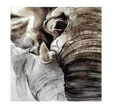 Elephant Watercolor Painting, Elephant artwork, nature artwork, nature painting, animal art, circus art, 8 x 10 inch print. $25.00, via Etsy.