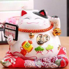 inch Maneki Neko Ceramic Lucky Cat Home Decor Porcelain Ornaments Business Gifts Fortune Cat Maneki Neko, Cat Piggy Bank, Animal Plates, Cat Themed Gifts, Cat Mug, Pink Cat, Money Box, Business Gifts, Animal Fashion