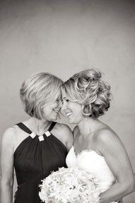 mother of the bride with bride pic- def wanna close up of me and my mama like this :)