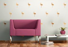Wandtattoo Flamingo Set von wall-art.de