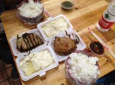 Sliced beef and meatball. Chongqing, China
