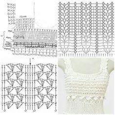 Crochet Skirt Pattern, Crochet Diagram, Crochet Chart, Crochet Stitches, Crochet Patterns, Vanessa Montoro, Hippie Crochet, Crochet Lace, Crochet Wedding Dresses
