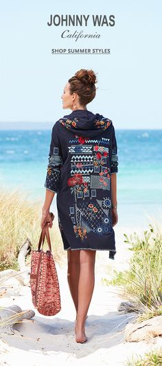 Explore the Johnny Was Summer Oasis Collection Boho Outfits, Pretty Outfits, Fashion Outfits, Johnny Was Clothing, Embroidered Clothes, Fashion Over 50, Streetwear Fashion, Boho Fashion, Boho Chic
