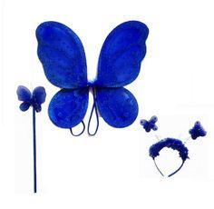 LolaSaturdays 3 Pc Set Royal Blue Fairy Princess Butterfly Angel Costume Wings LolaSaturdays http://www.amazon.com/dp/B00COXKQ0U/ref=cm_sw_r_pi_dp_Z8Hnwb1F569Z5