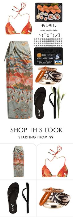 """moshi moshi-hello"" by emcf3548 ❤ liked on Polyvore featuring Stella Jean, Dolce&Gabbana, Reef, H&M and Pier 1 Imports"