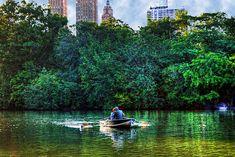 Central Park paddling.