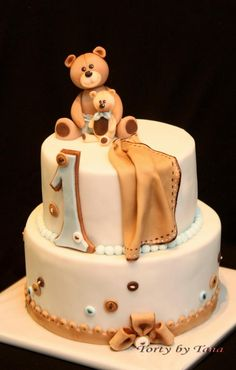 vintage cake for first birthday - Cake by grasie
