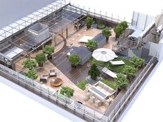 rooftop garden An environmentally friendly rooftop is a roof top that is were taught in plants, which often minimizes stormwater run-off and lessens chilling charges. Rooftop Terrace Design, Rooftop Patio, Terrace Garden, Patio Roof, Rooftop Lounge, Pergola Roof, Cheap Pergola, Outdoor Restaurant Patio, Rooftop Restaurant