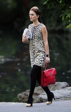 Blair Waldorf + leopard print dress
