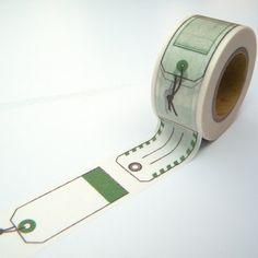 Olive Green Washi Tape, Japanese Masking, Gift Labels, Scrapaholic Collection