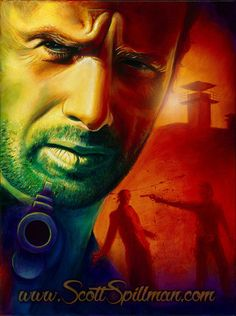 Rick Grimes from the Walking Dead. Painting by Scott Spillman
