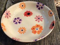 Absolutely love this <3 so cute and summery perfect EMMA BRIDGEWATER rare original • Flower Power • PASTA BOWL • spongeware