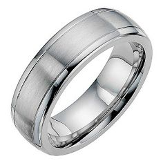 Complete an impeccable, contemporary wedding look with this sleek, chic, cobalt satin and polished band. 7mm.