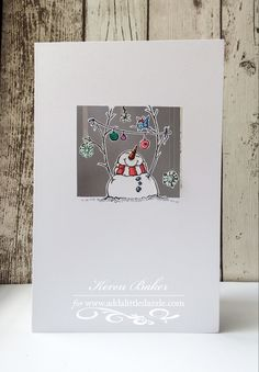 Stampendous 'Snowman Banners' and Add a Little Dazzle craft metal sheets