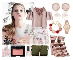 """Zimmermann rose flower power"" by lisyerizzi on Polyvore featuring Zimmermann, Monica Vinader, Oscar de la Renta, Charlotte Russe, Michael Kors, Laurence Dacade, Chloé, Lime Crime, Jimmy Choo and NARS Cosmetics"
