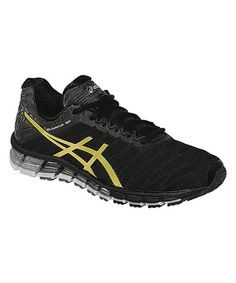 abfb6bcd15814 ASICS Black   Gold Gel-Quantum 180 Running Shoe - Men