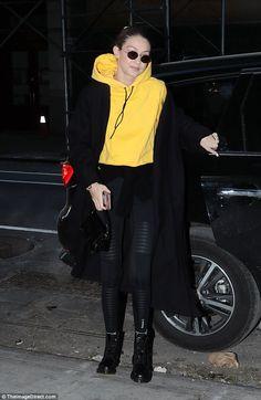 Model behavior: Gigi Hadid hurried through the streets of New York for an early-morning ph... #gigihadid #models