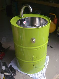 outdoor toilet diy * outdoor toilet _ outdoor toilet ideas _ outdoor toilet for pool _ outdoor toilet outhouse _ outdoor toilet diy _ outdoor toilet design _ outdoor toilet ideas backyards _ outdoor toilet and shower ideas Outdoor Toilet, Outdoor Sinks, Oil Barrel, Metal Barrel, Recycled Furniture, Diy Furniture, Barrel Projects, Metal Drum, Barrel Furniture