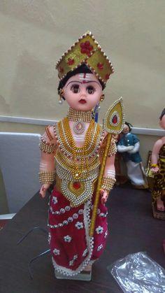 ..... Pretty Dolls, Cute Dolls, Janmashtami Decoration, Crafts For Kids, Arts And Crafts, Baby Krishna, Lord Murugan, Wedding Doll, Indian Dolls