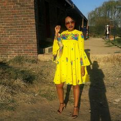 Shop for everything but the ordinary. African Wedding Attire, African Attire, African Dress, Tsonga Traditional Dresses, South African Traditional Dresses, African Print Clothing, African Print Fashion, Shweshwe Dresses, Latest African Fashion Dresses