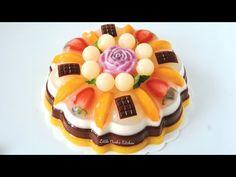 Beautiful Jelly Cake Recipe #littleduckkitchen - YouTube Agar Agar Pudding Recipe, Pudding Recipes, Cake Recipes, Snack Recipes, Snacks, Lime Desserts, No Bake Desserts, Flan, Agar Agar Jelly