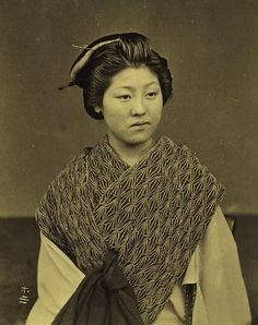 Portrait of Japanese woman. Meiji Period. Japan.