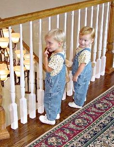 Kid Shield, 15u0027   To Make Handrail Above Stairs Safer. Fixes Problem Of
