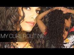 MY CURL ROUTINE   AYESHA MALIK x DEVACURL - YouTube