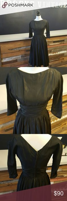 Black Vintage Dress 1950s black dress. This dress is simple but amazing. A great piece for a night out or an event. The tag says it is a 9 but fits more like a 5. Johnathan Logan Dresses Midi