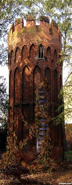 Rapunzel's Tower, Wales, UK.  The girls would love -LOVE- this!