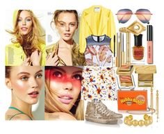 """""""Firework"""" by brownish ❤ liked on Polyvore featuring Moschino, Clover Canyon, Milly, Golden Goose, Anya Hindmarch, Estée Lauder, Yves Saint Laurent, Deborah Lippmann, Bobbi Brown Cosmetics and Arme De L'Amour"""