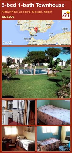Townhouse for Sale in Alhaurin De La Torre, Malaga, Spain with 5 bedrooms, 1 bathroom - A Spanish Life Built In Seating, Malaga Spain, Living Room With Fireplace, Murcia, Seville, Public Transport, Ground Floor, Lisbon, Townhouse