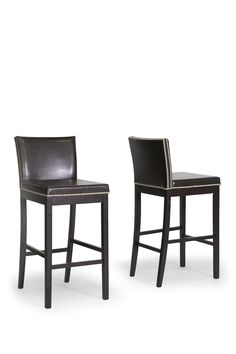 Graymoor Modern Dark Brown Bar Stool - Set of 2 on @HauteLook