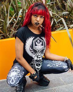 Horus Rising - Womens Tee & Satan's Waitin' - Leggings www.crmcclothing.co | We Ship Worldwide #summer #summertime #summerwear #summerstreetwear #streetwear #alternative #alternativestreetwear #altwear #alt #altlife #altlifestyle #streetstyle #style #blackwear #wearblack #blackgirlsrock #womens #fashionblog #fashionblogger #crmcclothing #esoteric #wings #eye #horus #egypt #darkwear #blackmodel #eyeofhorus #satanswaitin #satan