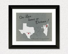 Deployment Gift Long Distance Gift Present for by KeepsakeMaps