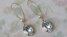 Crystal Rhinestone Earrings  Art Deco Earrings  by ArtistInJewelry