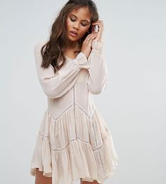 Get this Glamorous Tall s casual dress now! Click for more details.  Worldwide shipping. Glamorous Tall Ruffle Hem Swing Dress - Cream  Tall  dress by ... 4548cc0014a48