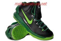 b915f55cb94 Pas Cher KD V couleur noire Gorge vert 554988 004 Nike Zoom Kevin Durant  Chaussures 2013