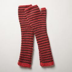 GREAT BASIN HANDWARMERS--Hand-knit handwarmers of soft and warm alpaca fiber keep hands toasty and fingers free. Hand wash. Imported. One size fits most adults.
