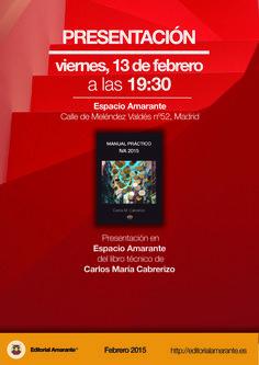 """Presentación """"Manual práctico de IVA 2015"""", de Carlos María Cabrerizo."""