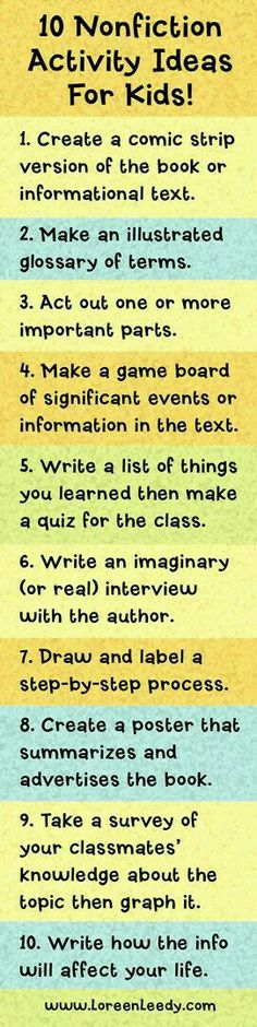 Nonfiction response ideas