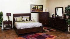 Napa Mahogany Wood Master Bedroom Set 2354MG-BR