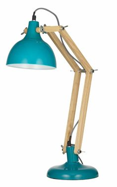 Sleuth table lamp - available in Teal, white or Yellow. $129 due in store soon or per- order online.