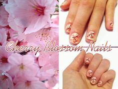 Cherry blossom nails!