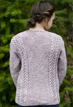 FREE KNITTING PATTERN! » A really cute cardi from Cascade Yarns, this simple cable design is perfect for Fall days at school. Pick out your favorite Cascade 220 Superwash color for this project »