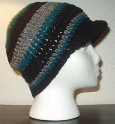 Teal grey and black slouch with brim. Want one? Only 5 bucks!